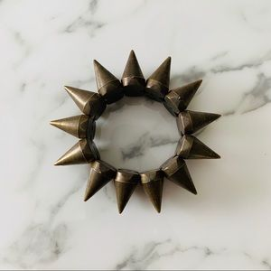 Brass spiky bracelet